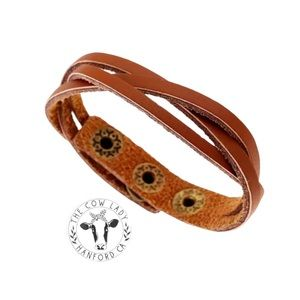 Genuine Leather Braided Cuff Bracelet Country NEW